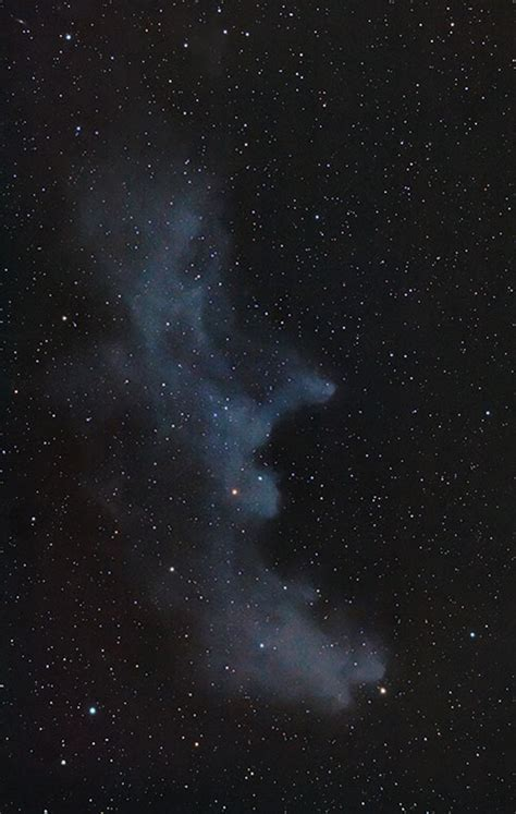 DSLR astrophotography The Witch Head Nebula in Orion