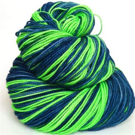 hand dyed classic sock yarn  seahawks  sunrise