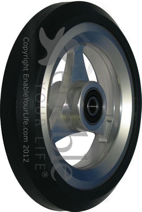 5 x 1 in. Aluminum Wheelchair Caster Wheel with Pyramid Tire