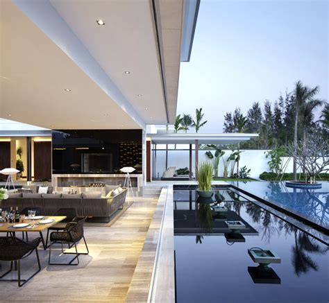 luxurious spacious villas  pool interiorzine