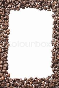 Bilder Mit Weißem Rahmen : rahmen aus kaffeebohnen isoliert auf wei em hintergrund mit clipping pfad stockfoto colourbox ~ Indierocktalk.com Haus und Dekorationen