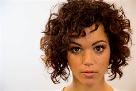 A-line Bob Haircut On Curly Hair