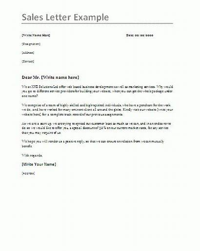 Letter Sales Samples Templates Template Example Word