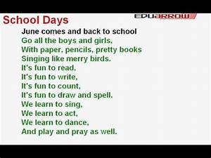 School Days Rhyme - YouTube