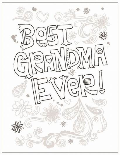 Coloring Mothers Pages Grandma Mother Hallmark Sheets