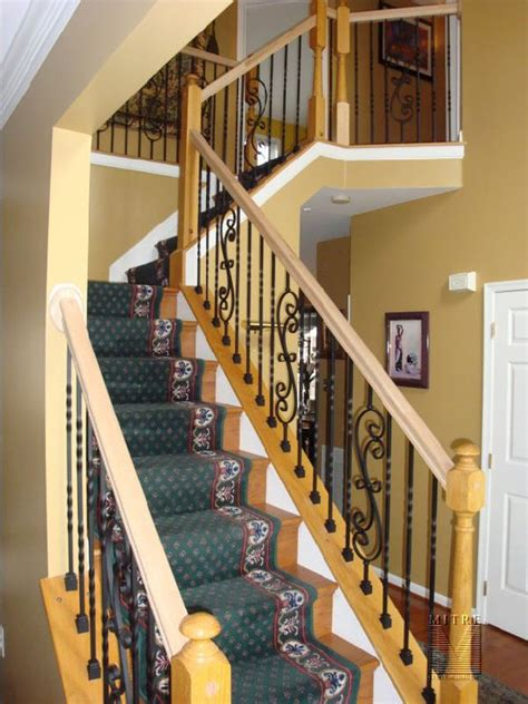 banister spindles replacement stair railing baluster replacement mitre contracting inc