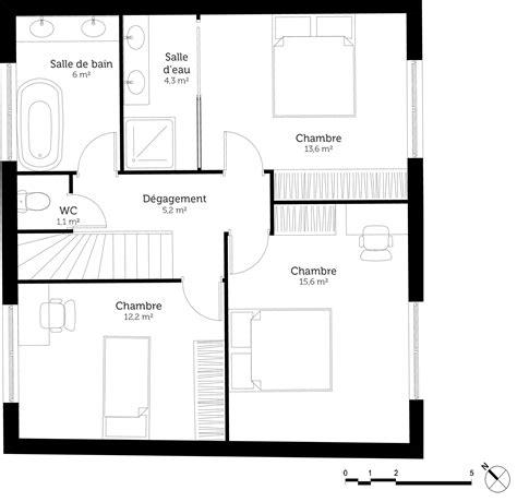 plan maison 1 chambre plan maison 3 chambres et terrasse ooreka