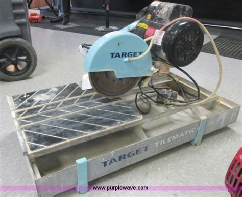 target tile saw water 2006 target tilematic g2 tile saw saw no reserve