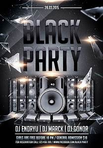 Holiday Party Background Club Flyer Psd Template Black Party Nitrogfx