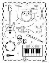 Coloring Pages Themed Musical Instrument Printable Getcolorings sketch template