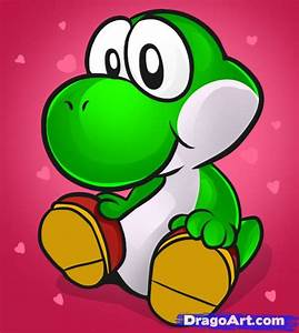 How to Draw Baby Yoshi, Step by Step, Video Game ...