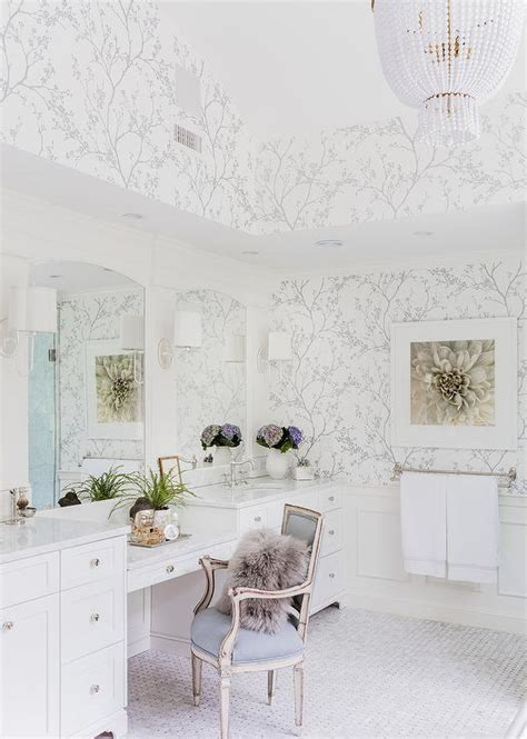 white  silver master bathroom  schumacher twiggy