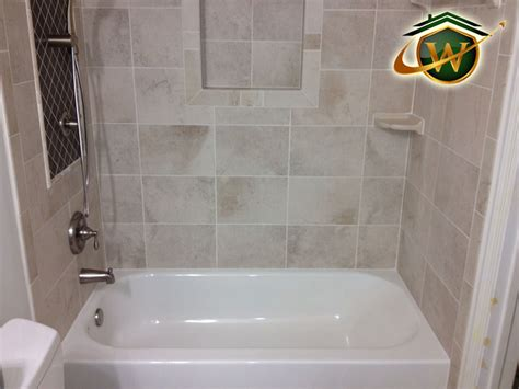 Tiling A Bathtub Area by Bathroom Remodeling Services In The Gaithersburg Md Area