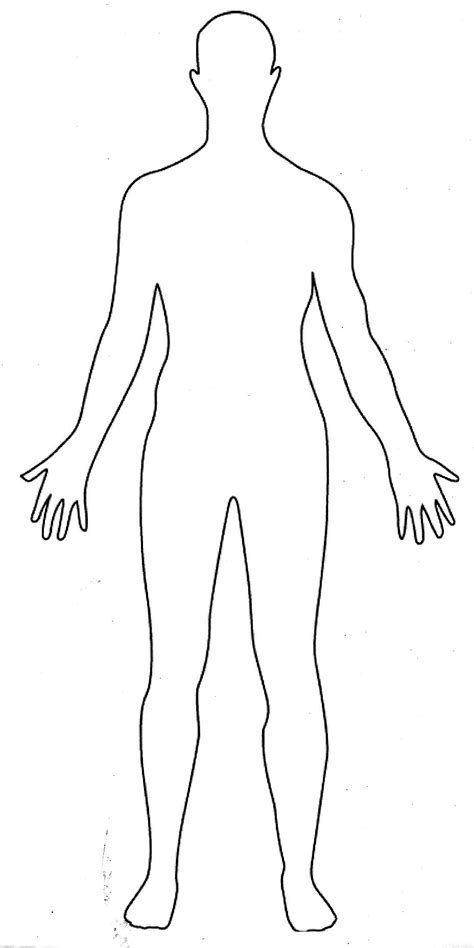 human template sketch of human front and back coloring pages