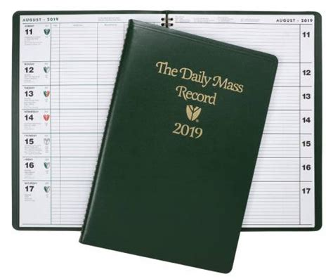 daily mass record book generations religious gifts daily
