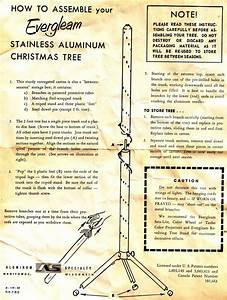 Instructions For My Evergleam Aluminum Xmas Tree