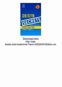 Ob Gyn Secrets Updated 3rd Edition Pdf