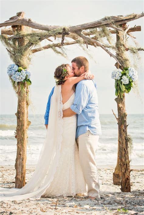 Rustic Driftwood Beachfront Wedding Arbor Watter Wtoo