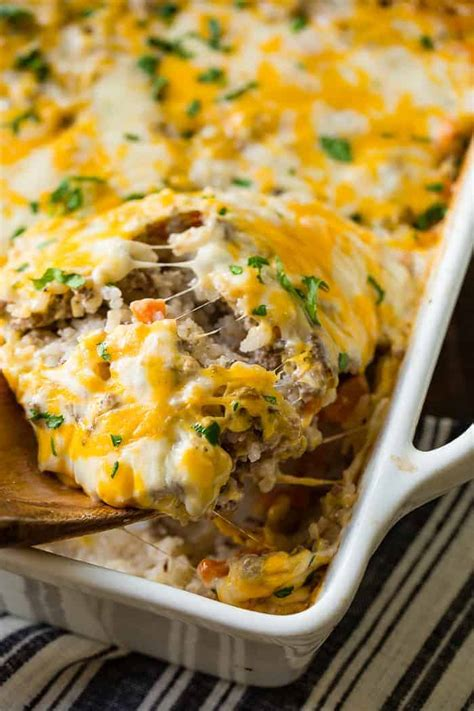 dinner casserole recipes easy cheesy ground beef and rice casserole oh sweet basil