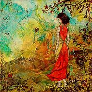 Mixed Media Folk Art Painting