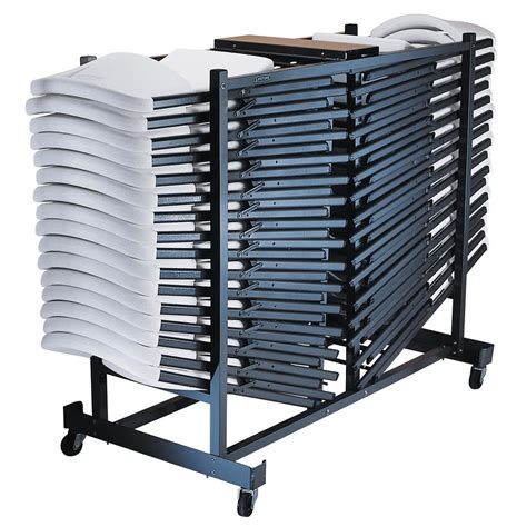 storage for folding chairs and tables lifetime 6525 storage rack folding chair cart