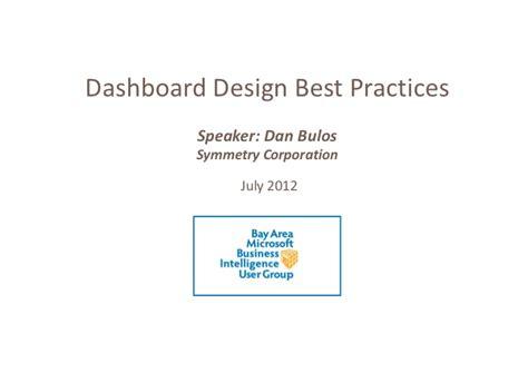 business intelligence dashboard design best practices