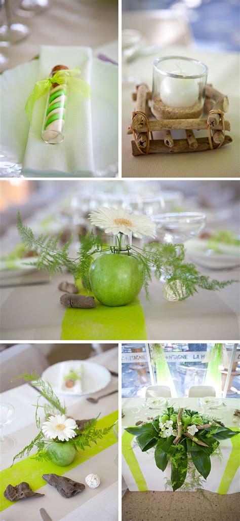 d 233 coration de table de mariage sur le th 232 me nature une d 233 coration blanche et verte