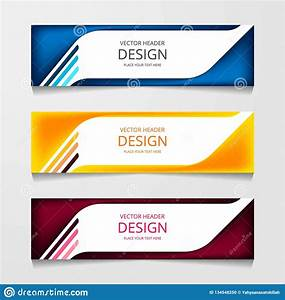 Abstract Design Banner C Web Template With Three Different Color