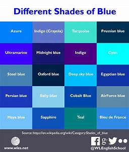 Different Shades of Blue | Blue shades colors, Blue color ...