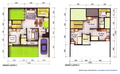 gambar desain rumah minimalis  lantai luas tanah