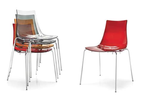 metal chair with plastic transparent seat idfdesign