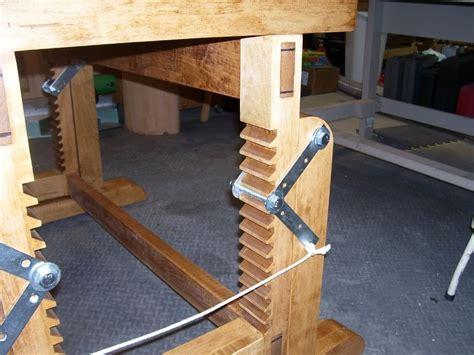 adjustable height workbench plans big idea