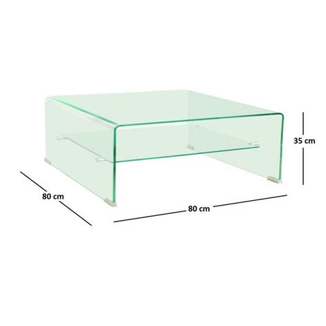 tables basses tables et chaises wave table basse carr 233 e en verre plateau 80x80 cm