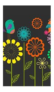 Colorful Vector Flowers Birds Wallpapers | HD Wallpapers ...
