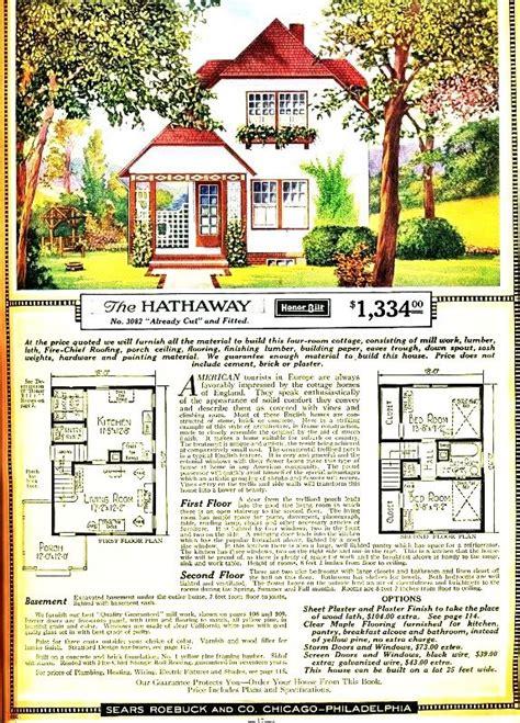 vintage sears roebuck   hathaway cottage floor plans sears catalog homes vintage