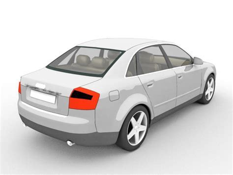 Audi A4 executive car 3d model 3ds Max files free download
