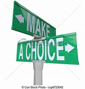 Clip Art of Make A Choice Between 2 Alternatives - Two-Way ...