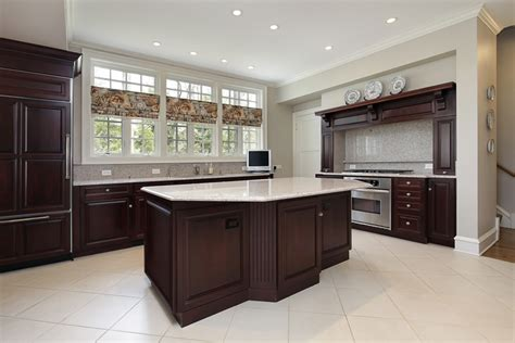 luxury kitchen design ideas custom cabinets part 3 555 dark cabinet kitchen with light flooring tiles