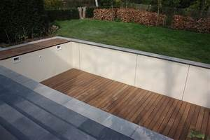 terrasse en bois sur fond mobile de piscine mt design With photo terrasse bois piscine 4 structure terrasse b wood