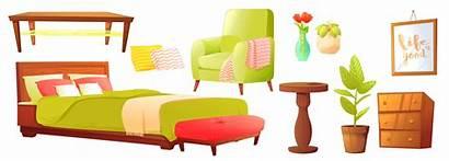 Bedroom Sofa Object Wooden Vector Furniture Shelf