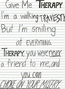 Therapy -All Time Low. Words can't express how much I love ...