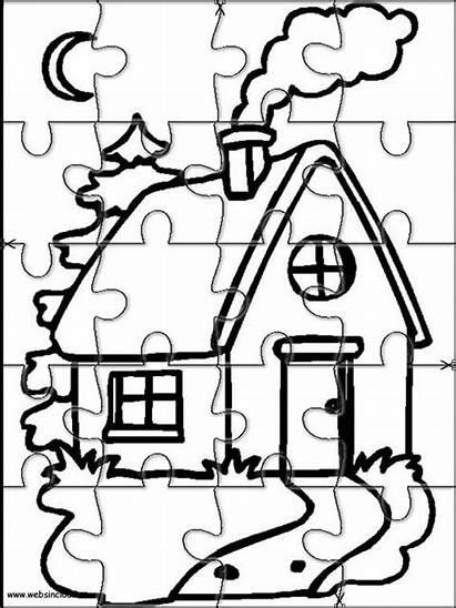 Puzzles Coloring Jigsaw Printable Puzzle Cut Casas