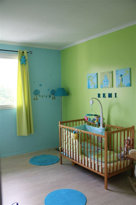 chambre enfant bleu et vert b deco tableaux sur mesure pour partager ma