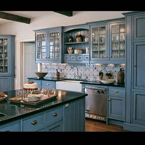kitchen cabinet tiles blue kitchen design kitchens house and black counters 2808