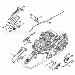 Stihl Ms 261 Chainsaw  Ms261 Vw  Parts Diagram  Throttle