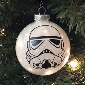 Star Wars Deko Basteln : star wars inspired storm trooper christmas glitter ornament glass ball weihnachten ~ Markanthonyermac.com Haus und Dekorationen