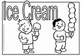 Ice Cream Coloring Summer Pages Parlor Eating Melting Cone Drawing Icecream Getdrawings Popular sketch template