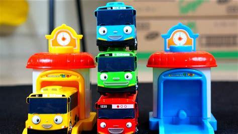 mainan anak tayo mobil tayo biru tayo the little bus garage tayo mainan anak mobil mobilan youtube