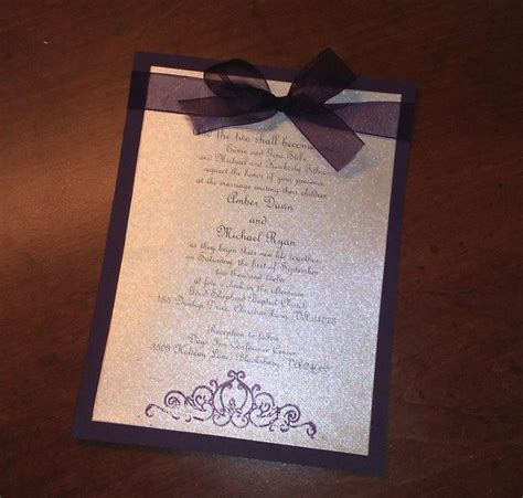 diy wedding invitation pinterest diy plum wedding invitations turns out to only be about