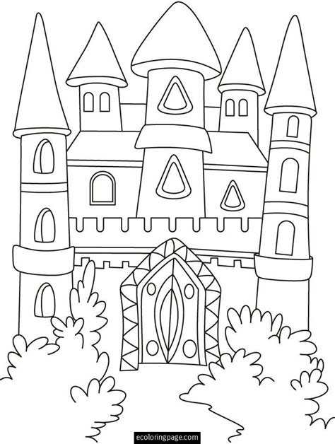 fantasy castle coloring page printable castles castle